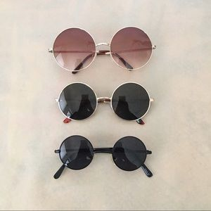 Accessories - Round Sunglasses 3 pairs